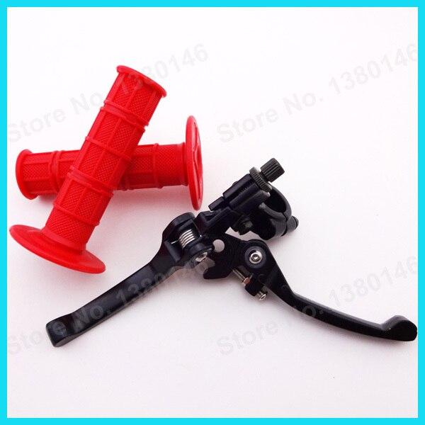 Красная мягкая резиновая ручка ручные ручки и складные Складные тормозные рычаги сцепления для китайского питбайк Kayo BSE SSR мотоцикл