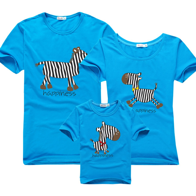 """Family Matching Casual Summer Clothes """"Loose Zebra"""""""