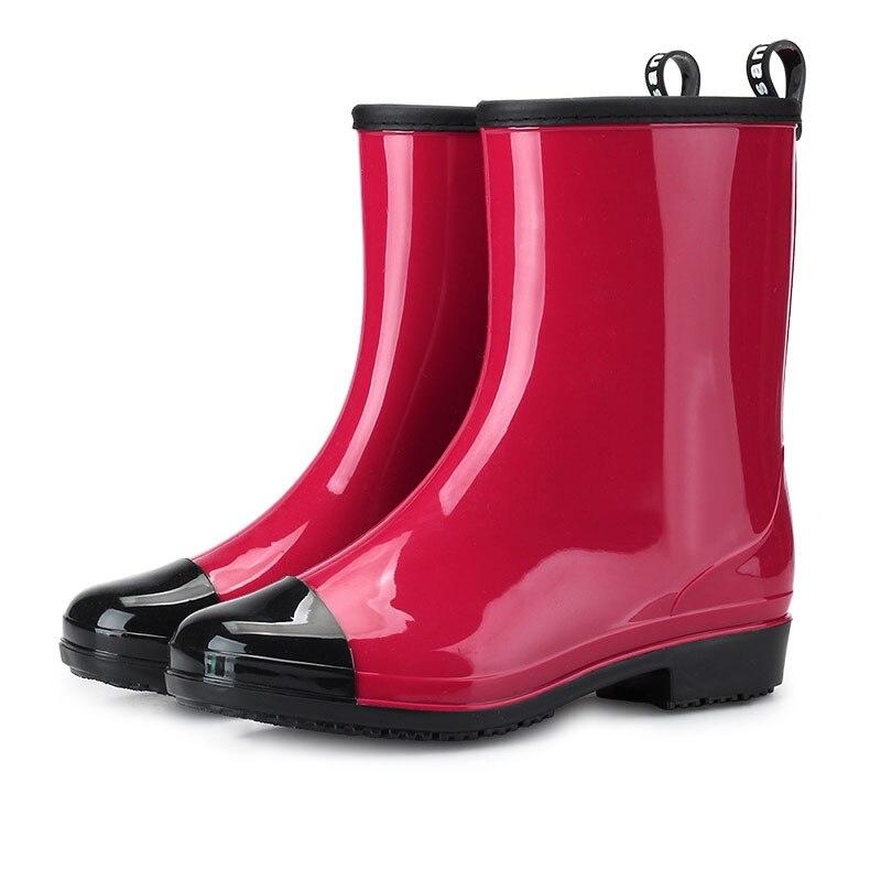 pretty nice d72a7 21cb6 rosso Stivali Stivali Stivali di blu solida in moda gomma da ...