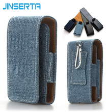 JINSERTA PU Leather Case Flip Cover Denim Bag For IQOS II III IQOS 2.4 Plus Kit Protective Belt Clip Carrying Cases Pouch Bags