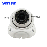 Smar 1080 마력 HD IP 카메라 2.8-12 미리메터 수동 줌 렌즈 2MP 돔 카메라 홈 보안 CCTV 감시 카메라 ONVIF XMEYE