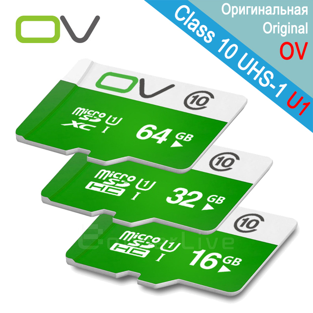 OV Memory Micro SD Card 64GB Class 10 32GB 16GB TF Carte Microsd Flash Card SDCard for Mobile Phone Smartphone Tablet MP3 Camera