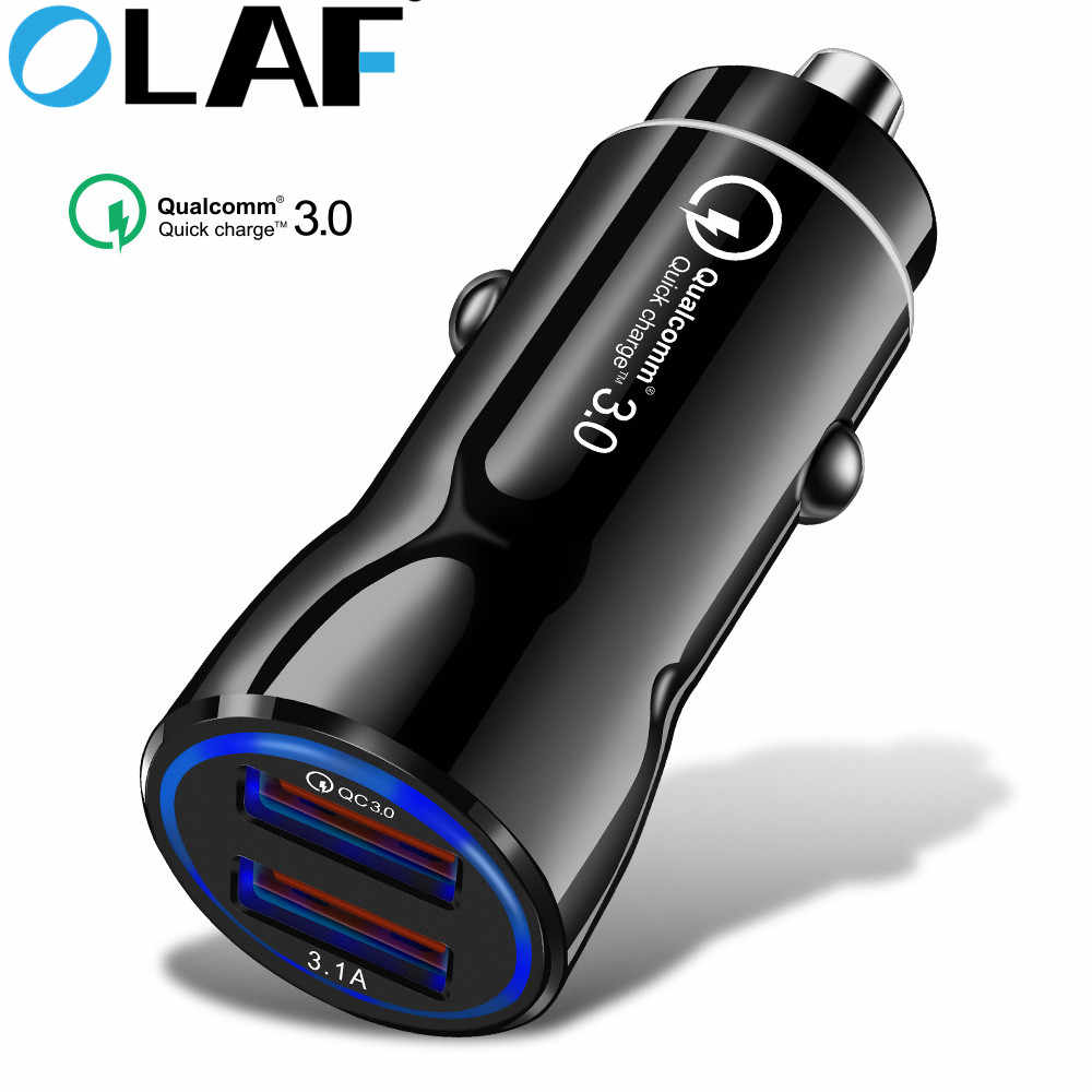 Olaf Car Charger Quick Charge 3.0 2.0 Mobile Phone Charger Fast Car Charger for iPhone XS Max Samsung 2 Port USB Phone Chargers
