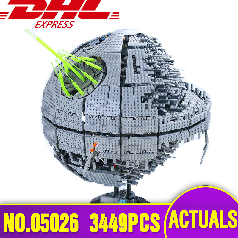 LEPIN 05026 Star series Wars Death The second generation 3449pcs Building Block Bricks Star Toys Compatible with  10143 Gifts lepin 05037 star wars ucs slave i slave no 1 model 2067pcs minifigure building block toys 100