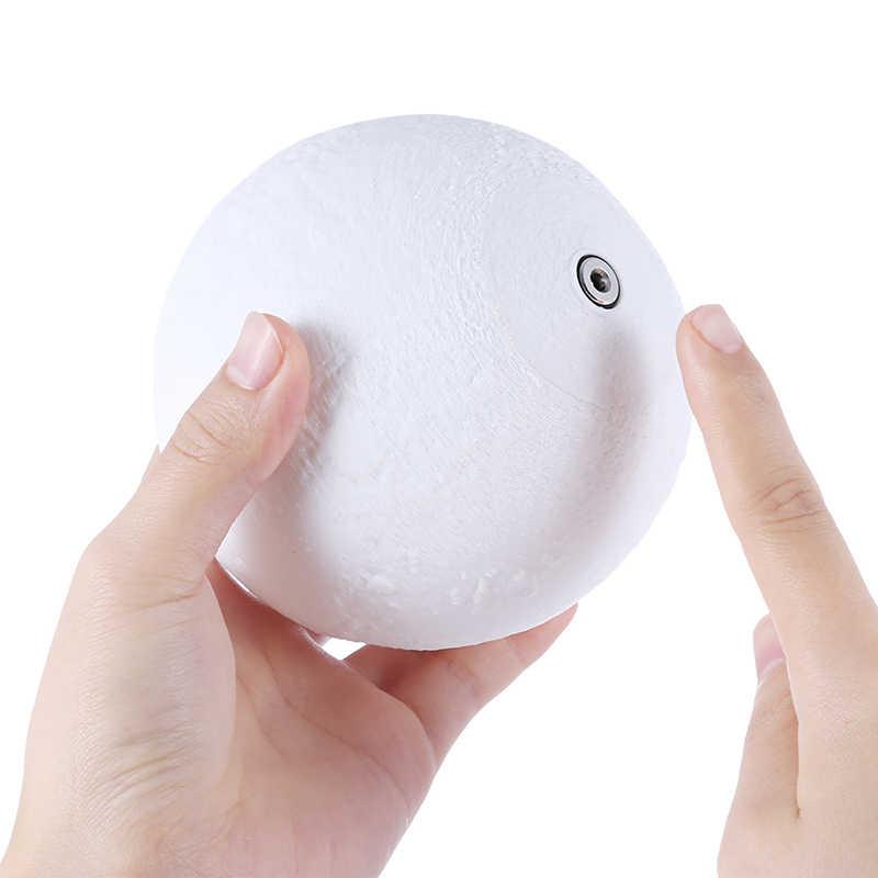 [LTOON] 3dprint Lune Lampe Rechargeable télécommande 16 Couleurs Changement Tactile Veilleuse Lunaire Luna Bébé Veilleuse cadeau De Noël