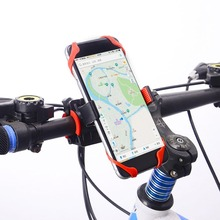 цена на Bicycle Phone Holder 360 Degree Adjustable Motorcycle/Bike Handlebar Universal Smartphone Mount Bracket for Bike GPS Navigation