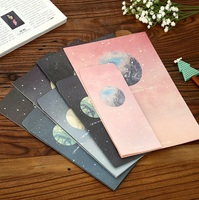 Hot Selling New Arrival Fashion Cute Retro Pandora Planet Series Diy Fun Kraft Envelope Set With