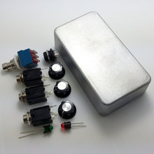 1590B Style Aluminum Pedal Enclosure  and 3PDT Foot Pedal Switch + LED Lights +Interface + Guitar knobs True Bypass
