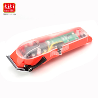 2019 WAMRK Limited EditionTransparent cover Professional rechargeable clippper Hair Trimmer Lithium battery with red base