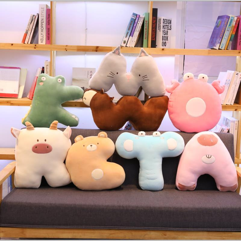 Animal Shaped Letter Pillow Party Decoration Letters Plush Hangs Accessories Toy Newborns Photography