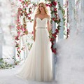 2016 Spring Arrivals Cheap Pleated Soft Tulle Vestidos Beaded Straps Wedding Dresses Good Quality Robe De Mariage