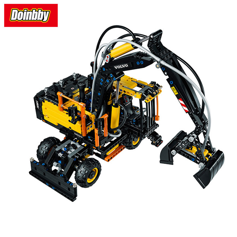 LEPIN 20023 Technical Ultimate Series EW160E  Excavator 2-In-1 Building Block Set Bricks Kits Toys 1166Pcs Compatible 42053 new technical excavator duplo toys large