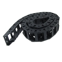 18x37mm Plástico Cable Drag Chain Cable Carrier Negro 42 1/2