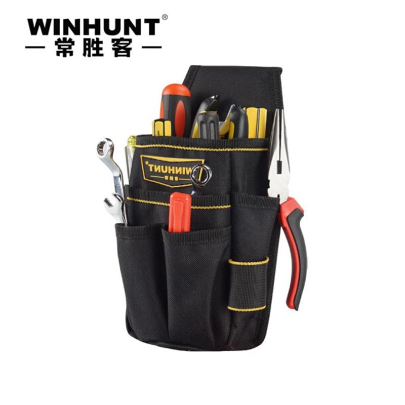 Lange Canvas Tool Waist Bag Multi Function Electrician Bag Small Tool bag Professional Tool Storage Utility Bag