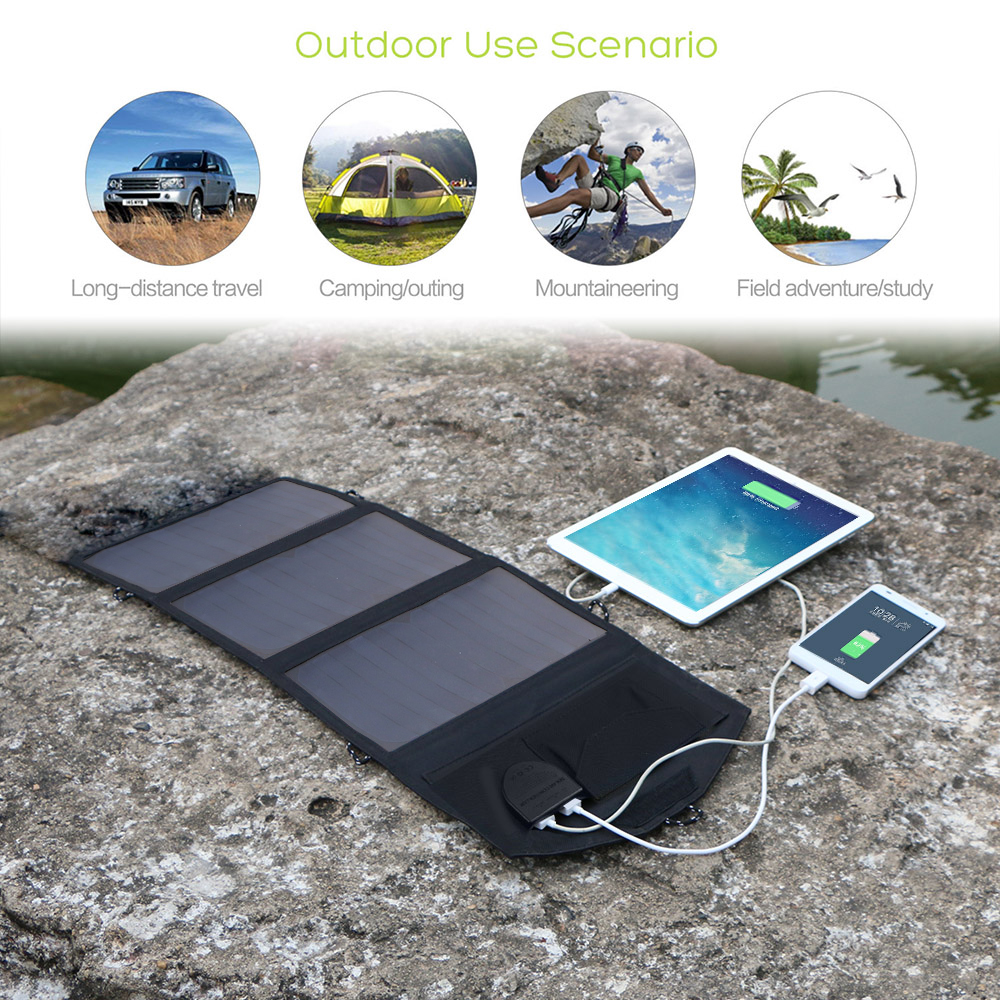 Image 4 - ALLPOWERS 5V 12V 18V Solar Panel Battery Charger Portable SunPower Solar Charger for iPhone Samsung iPad Car Battery Laptop-in Solar Cells from Consumer Electronics