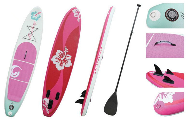 ca3bebd593c6 Pink flower popular inflatable SUP board stand up paddle board surf board