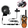 1 Pin Headset Motorcycle Helment Headphone PTT for Motorola Two Way Radio TLKR T60 T3 T80 Walkie Talkie for MB140R MT350 R MS355
