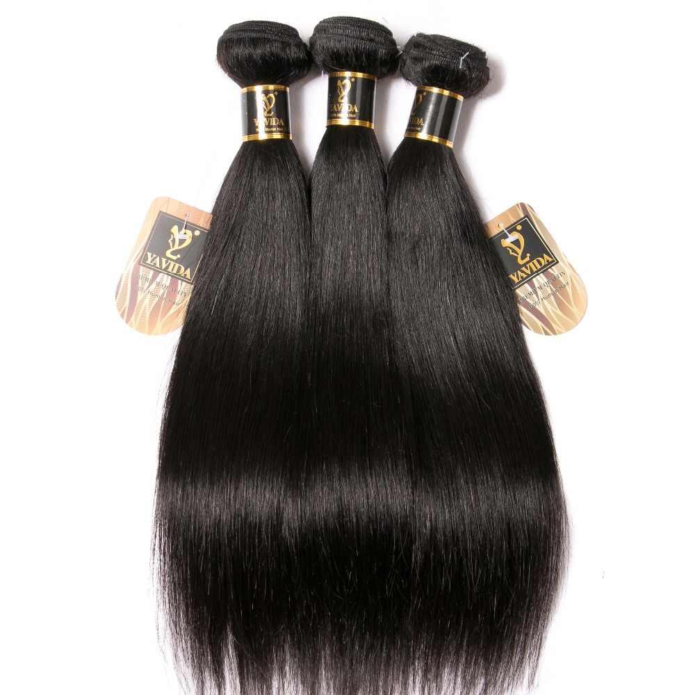 Yavida волосы бразильские прямые волосы 3 пучки 100% человеческих волос Плетение Пучков 8-30 дюймов дешевые бразильские волосы прямые 3 шт.