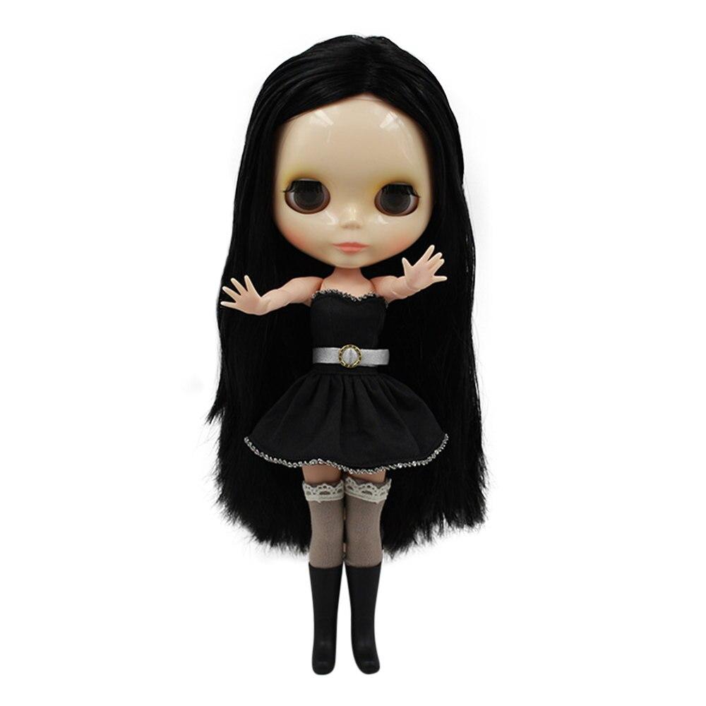 Oyuncaklar ve Hobi Ürünleri'ten Bebekler'de Blyth doll normal vücut siyah Patlama uzun saç 230BL117, fabrika blythe doll kız bebek Çocuk hediye'da  Grup 1