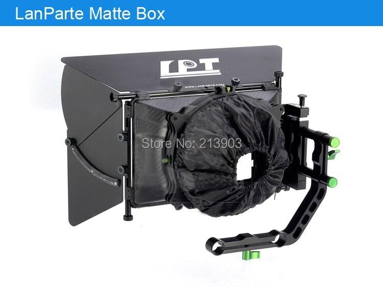 Lanparte MB-02 4*4 Camera Carbon Fiber Matte Box V2 W/ 5 Donuts F DSLR 5D3 BMCC цена