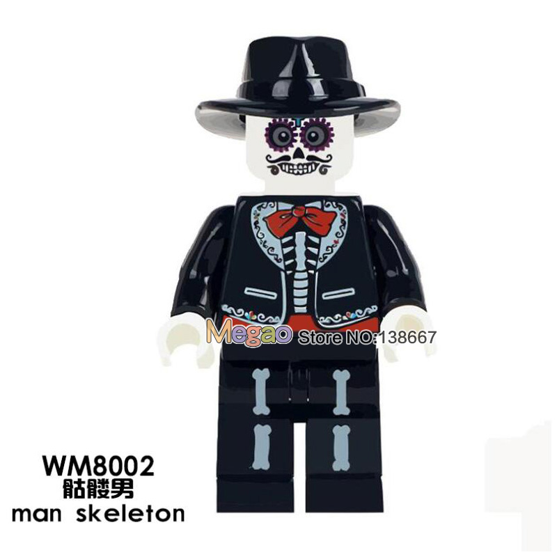 Toys & Hobbies Contemplative Single Sale Man Skeleton Wm8002 Movie Coco Day Of The Dead Holiday Building Blocks Legoing Education Children Gift Toys Blocks