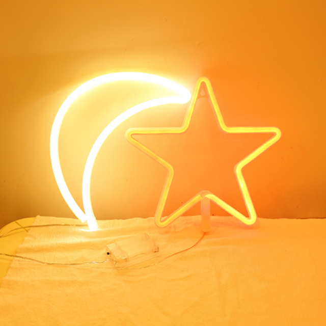 Us 21 46 Dcrlamp Novelty Night Light Led Lamp Usb Battery Holiday Decor Wedding Party Bedroom Sexy Cat Star Moon Festival Gifts In Led Night Lights