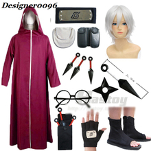 купить Anime cosplay NARUTO Yakushi Kabuto Cosplay Costume Ninja War Deidara Wig Anime Peripheral Accessories Cape Cloth 10 Piece Set по цене 251.41 рублей