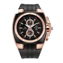 07dcdf09f6a7 Nuevos hombres de moda de cuero reloj   V8-03 calendario Casual Fake tres  ojos aleación oferta movimiento análogo reloj de pulse.