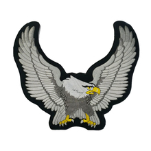 24.4cm High Biker Iron On Patch Eagle Motorcycle Embroidered Patches Badge Appliques Back Patch For Jacket Very cool clothes pat