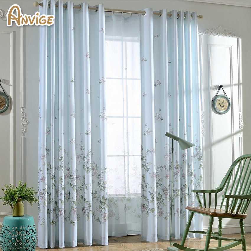Printed Half Blackout Curtains For Bedroom Window Curtains For Living Room  Elegant Drapes Curtains(China