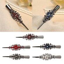 Women Flower Hairpin Hair Clip Rhinestone Duckbill Alligator Hairpins Accessories for women Girls