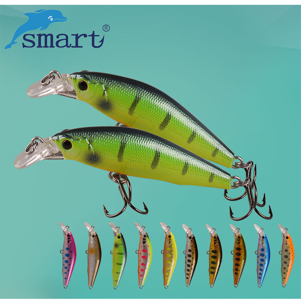 SMART Minnow Bait 50mm5.16g Sinking Fishing Lure VMC Hook Isca Artificial Para Pesca Leurre Souple Peche Mer Fishing Tackle noeby nbl9062 fishing lures 66g 140mm pencil sinking leurre peche mer brochet hard fishing bait