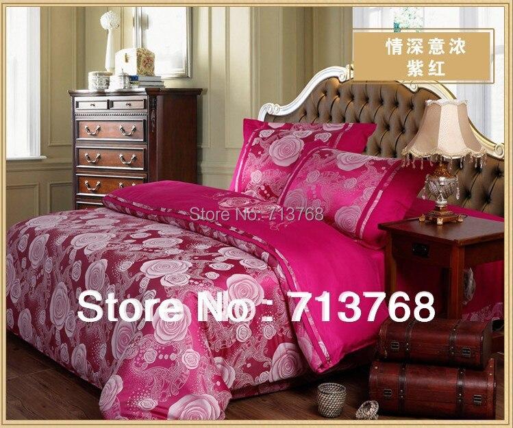 Livraison gratuite chaud de qualité supérieure enfants 4 PC Home Textile soie ouate ensemble de literie couvre / feuille de literie / taie d'oreiller dans Ensembles de literie de Maison & Jardin