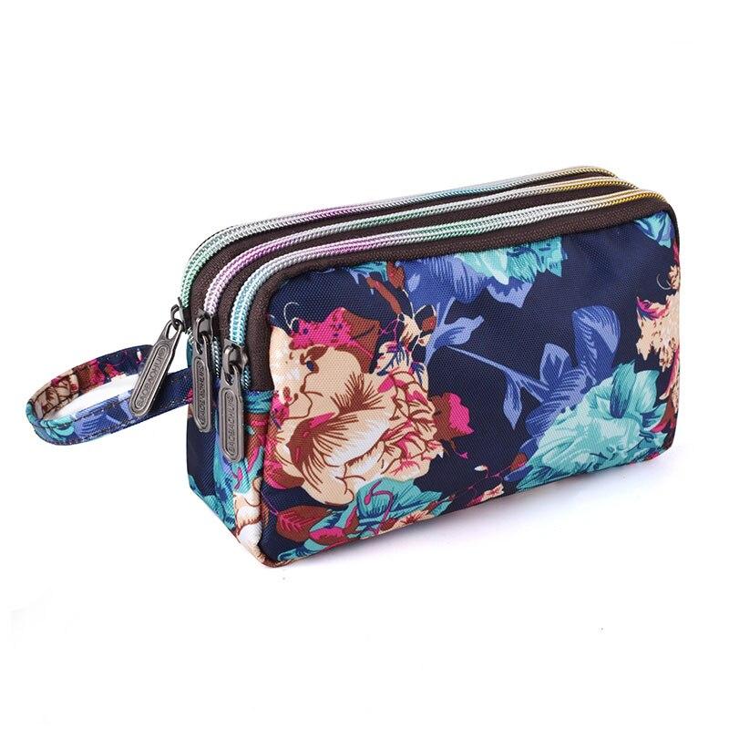 Wallets Wristlet-Bag Cell-Phone-Pouch Coin Purse Clutch Multifunction Handbag Zipper-Cloth