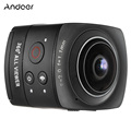 Andoer Panorama Wifi Action Camera 360 Degree VR Video Camera Full HD 1080P Mini Cam 8MP 220 degree Fisheye Wide-angle Lens