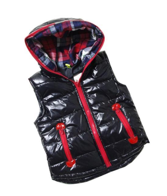 2015 Child Outerwear baby waistcoat Winter High quality children cotton vest Kids boys Xmas girls parka vest warm coat wholesale