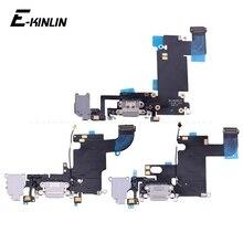 Высококачественный зарядный гибкий кабель для iPhone 5S, SE, 6, 6S, 7, 8 Plus, USB зарядное устройство, порт, док-станция с микрофоном, гибкий кабель