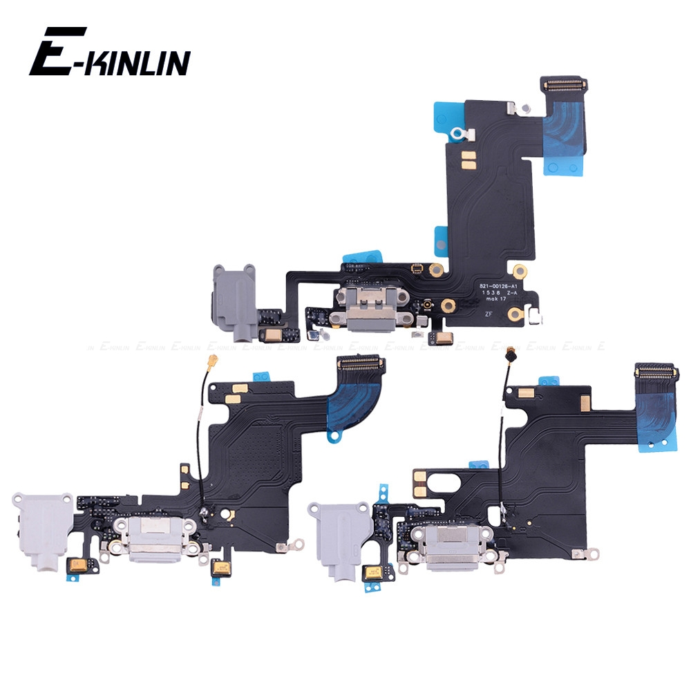 High Quality Charging Flex Cable For iPhone 4S <font><b>5</b></font> 5S SE <font><b>6</b></font> 6S Plus <font><b>USB</b></font> Charger Port Dock Connector With Mic Flex Cable image