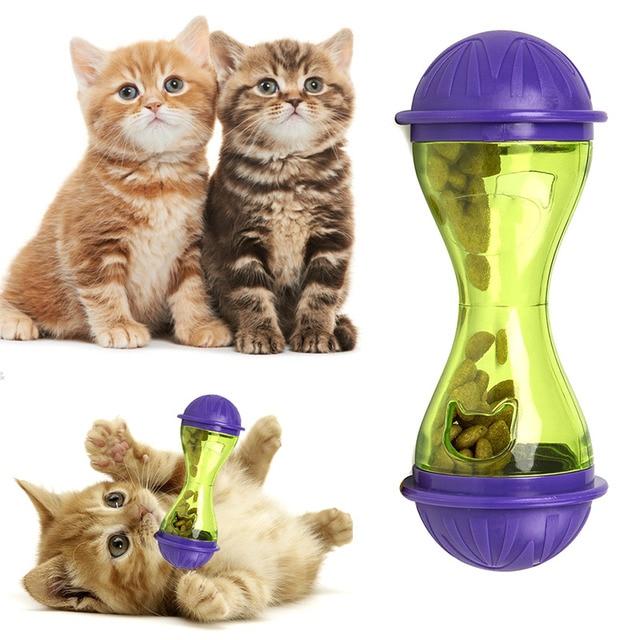 Alimentatore Cane gatto di Plastica Divertente Pet Food Dispenser Trattare Palla