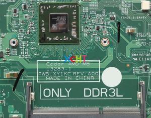 Image 3 - עבור Dell 3542 F594Y 0F594Y CN 0F594Y 13283 1 PWB: XY1KC A4 6210 DDR3L 216 0841084 מחשב נייד האם Mainboard נבדק