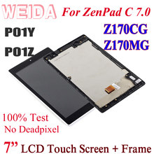 WEIDA LCD Replacment 7 For ZenPad C 7.0 Z170 Z170CG Z170MG LCD Display Touch Screen Digitizer Assembly P01Y PO1Z ZCC0 asus z170mg lcd display touch screen assembly for asus zenpad c 7 0 z170mg z170 mg lcd screen for asus z170mg original screen