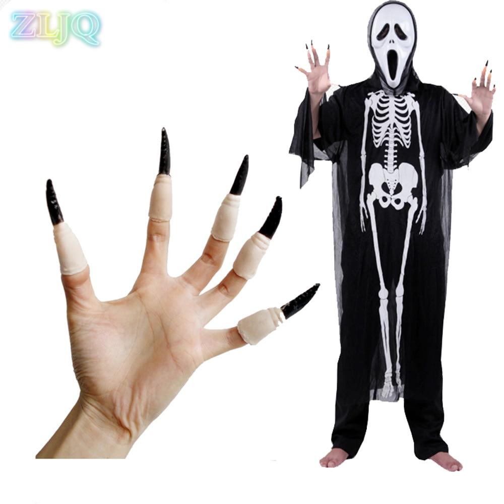 Dress up diary baju pelaut - Zljq 10pcs Set Halloween Horror Nail Sets Masquerade Party Supplies Creative Halloween Props Decoration 6d