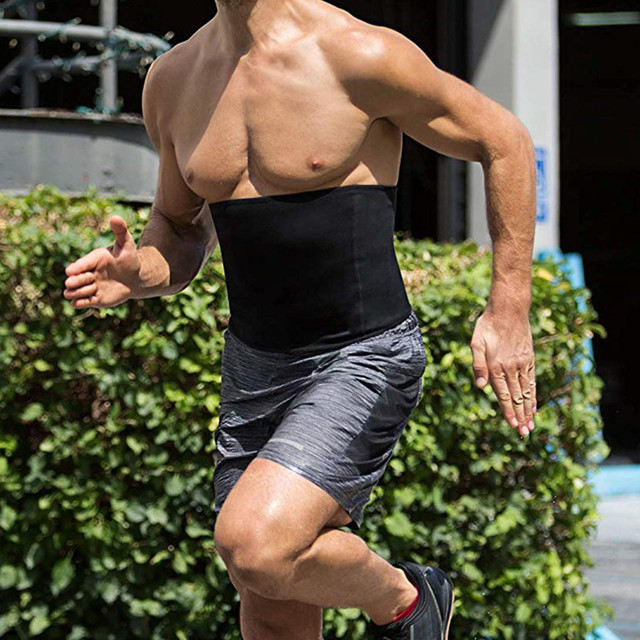2019 Slimming Belt Men Body Shapers Belt Sauna Sweat Modeling Strap Waist Trainer Girdles Shapewears Compression Neoprene Corset 3