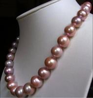 ATTRACTIVE 18 10 11 MM AAA SOUTH SEA PINK PEARL NECKLACE k YELecklace k