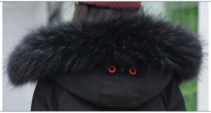 Image 5 - סופר עבה חורף מעיל מעילי הפיך בנות פרווה סלעית רוסית בנות חורף מעיל ילדי מעיל למטה מעיילי מעיל ארוך