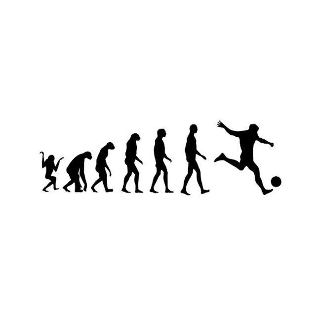 16.4 5 CM Personalizado Evolução Humana Futebol Decalques Do Carro de Vinil  Preto Prata 3d9c9faf54ff9