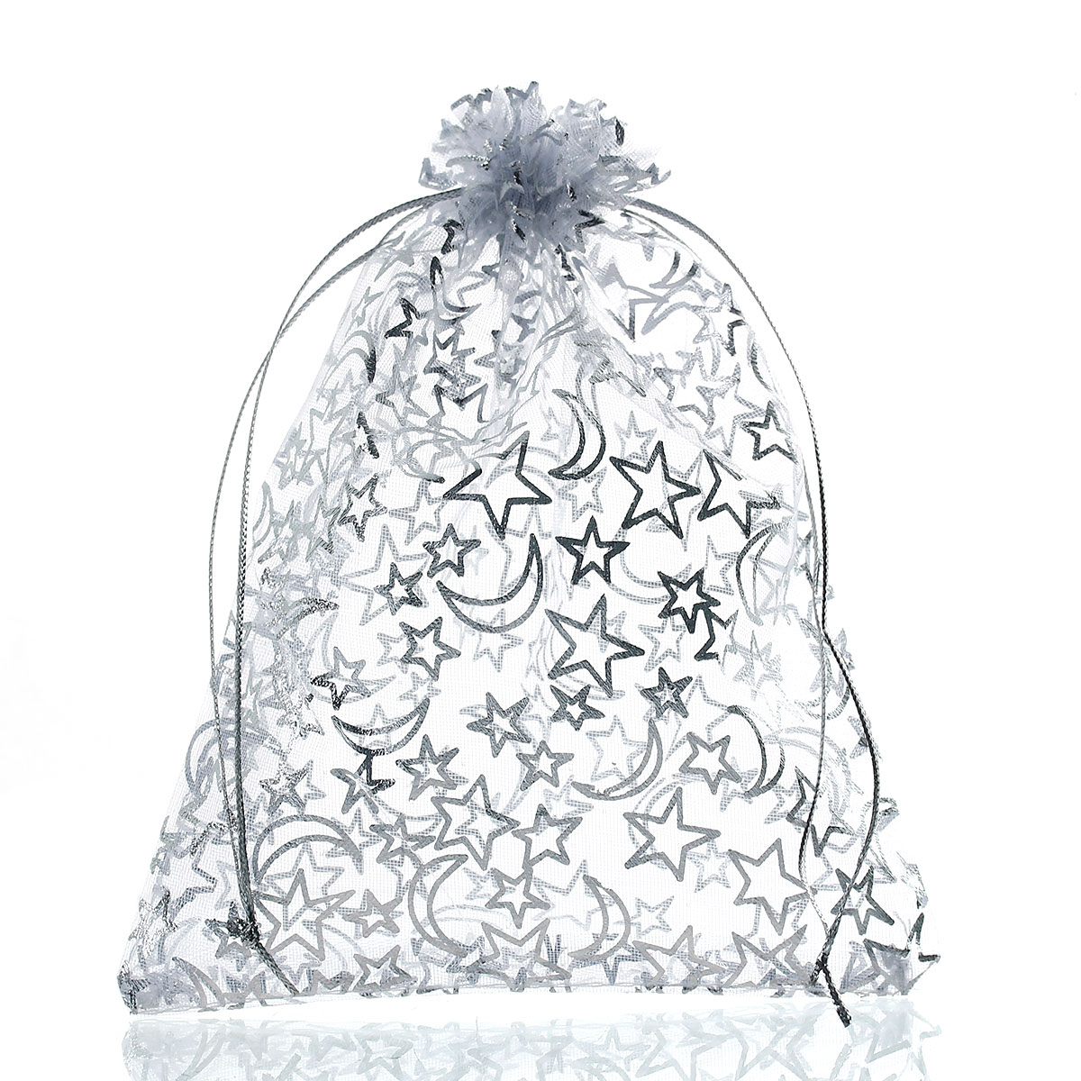 MJARTORIA 40PCs Star Moon White Organza Pouches Jewelry Bags And Packaging Fashion Gift Bags Wedding Party Pouches Bag For Gift