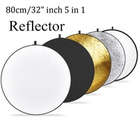 Promotion New Portable 32 80cm 80cm 5 In 1 Collapsible Light Round Photography Photo Reflector For