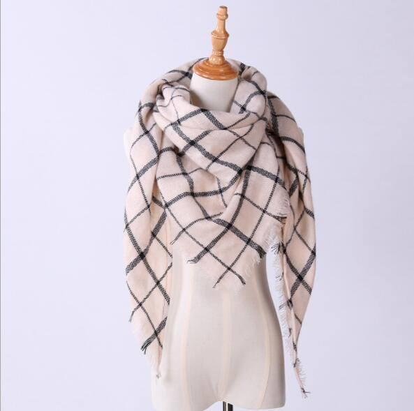 2017 Brand Designer Scarf For Women Scarves Cashmere Warm Wrap Plaid Scaves Luxury Scarf For Female Shawl Girls Blanket Shawls