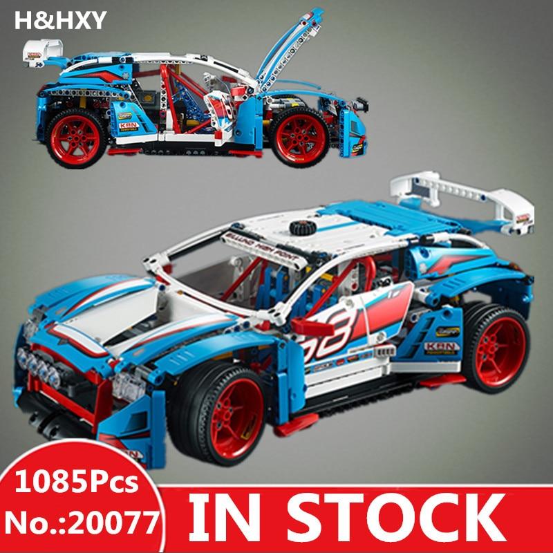 H & HXY 20077 натуральная 1085 шт. дизайн серии ралли 42077 строительные блоки кирпичи развивающие смешные дети игрушки подарки